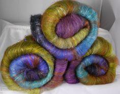 Fiber Batts for spinning  Batik  36 oz by inglenookfibers on Etsy, $21.25