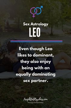 sex with a leo