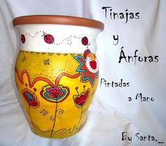 arte, artesania, pinturas, cuadros Painted Flower Pots, Painted Pots, Clay Pots, Handmade Flowers, Garden Pots, Mandala, Drawings, Pretty, Glitter