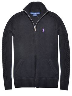 Ralph Lauren Sport Women's Full Zip Cable Knit Sweater - Great for a chilly #spring day!