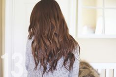 "flowy waves in ten minutes with a 3/4"" barrel curling iron, hair spray & dry shampoo"
