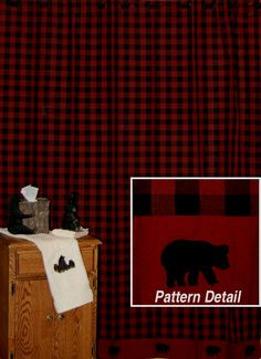 Woolrich Buffalo Check Red Amp Black Plaid Shower Curtain