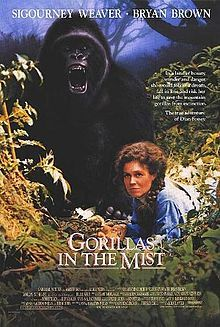 The Sigourney Weaver apex about naturalist Dian Fossey and her going to bat for simian species in Africa. Primate makeup by Rick Baker (consequently, he is a credited producer).
