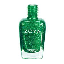 Bar Glitter Green Zoya Nail Polish in Rina  - Emerald Nail Polish: Color of the Year for 2013 (PANTONE 17-5641)