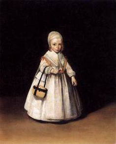 Gerard Terborch, a neatly-dressed little girl from 1644 (2009).