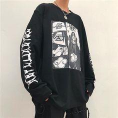 Naruto anime t-shirt Anime Outfits, Anime Inspired Outfits, Edgy Outfits, Mode Outfits, Retro Outfits, Grunge Outfits, Cute Casual Outfits, Fashion Outfits, Aesthetic Fashion