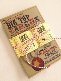 Ashley Thunder Events: Vintage Circus 1st Birthday Party: {The Invite}