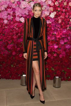 Gigi Hadid at Maybelline New York's 100 Year Anniversary celebration. See all of the model's best looks.