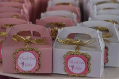 Pink and Gold favor labels