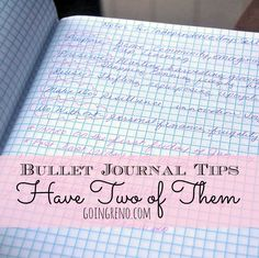 Bullet Journal Tips: Keep one for your to-do list and a separate one for notes, lists, and ideas. This system has made using my Bullet Journals far more effective.