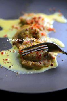 La cuoca invisibile...: Raviolando - Ravioli di farro ripieni di rucola e ...
