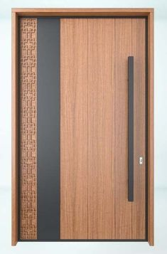 Puerta principalCloset Door Ideas-Combining elegance and comfort in your bedroom decoration is easy and affordable as well. Modern Entrance Door, Main Entrance Door Design, Wooden Front Door Design, Modern Wooden Doors, Wooden Front Doors, The Doors, Sliding Doors, Entry Doors, Flush Door Design