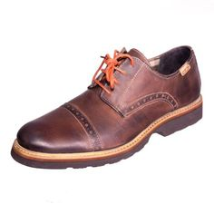 Pikolinos 05M 6037F Glasgow Brown Leather Lace Up Shoe Upper: leather Lining: leather/textile Sole: other material Removable footbed Made in Spain