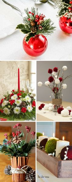 A Christmas centerpiece is necessary in every home, it adds charm to the holiday table and makes it sparkle. Entertain in style this season and wow your dinner guests by topping your table with an eye-catching handmade decoration.