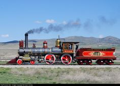 union pacific railroad photoes | RailPictures.Net Photo: 119 Union Pacific Steam 4-4-0 at Promontory ...