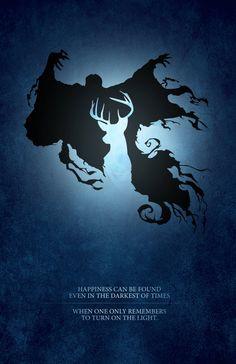 Harry Potter Patronus Light vs. Dark Digital by watchitDesigns