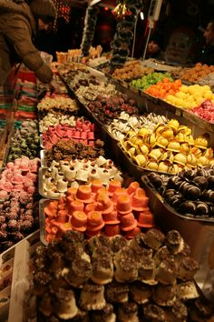 Chocolates at Budapest Christmas market!
