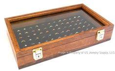 Oak jewelry display case