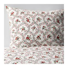 IKEA - HÅLLROT, Duvet cover and pillowcase(s), Full/Queen (Double/Queen), , Concealed snaps keep the comforter in place.