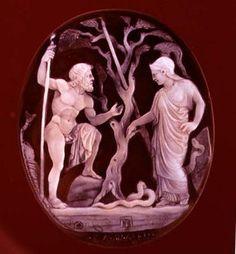 Bild:   - Cameo of Poseidon and Athena Competing for dominion over Attica, 1st century BC (onyx and sardonyx)