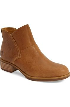 Timberland 'Beckwith' Stitch Overlay Inside Zip Ankle Bootie leather wheat 1.5h sz7.5 99.90 5/16