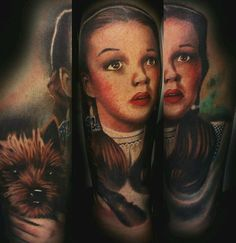 First pass at dorthy and toto forearm. Start of the wizard of oz sleeve. www.facebook.com/tattoosbychristafist www.christopherbettley
