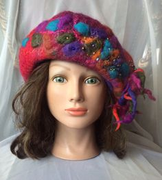 Hey, I found this really awesome Etsy listing at https://www.etsy.com/listing/233411031/nunofelt-ooak-beret-designer-hat