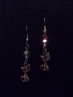 Magick Cat Earrings by CellDara on Etsy, $8.00