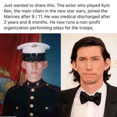 Adam Driver. Star Wars #starwars #kyloren This makes all the difference.