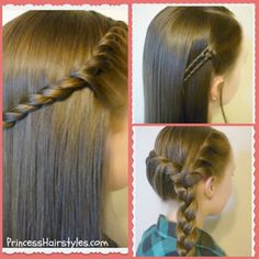 3 quick and easy hairstyles for school.  Video tutorials