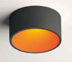 Domo ceiling lamp recto led 3x3w outdoor graphite indoor orange (8210-08) - Vibia / https://iLamparas.com / lamps lamparas deco