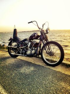 #springer #chopper by the #seaside #LetsGetWordy