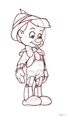 disney art How to Draw Pinocchio (Disney) Disney Drawings Sketches, Cartoon Sketches, Drawing Sketches, Art Drawings, Disney Cartoon Drawings, Sketching, Drawing Disney, Drawing Cartoon Characters, Disney Concept Art