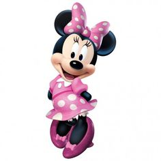 Minnie Mouse Bow-Tique Peel and Stick Giant Wall Decal Roommates Mickey Mouse Wall Murals Bolo Da Minnie Mouse, Mickey Mouse E Amigos, Pink Minnie, Mickey Mouse And Friends, Minnie Mouse Party, Walt Disney Kids, Retro Disney, Disney Babys, Disney Mickey