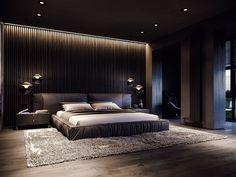 Black Bedroom Design, Master Bedroom Interior, Room Design Bedroom, Modern Master Bedroom, Bedroom Furniture Design, Home Room Design, Home Bedroom, Home Interior Design, Old Master
