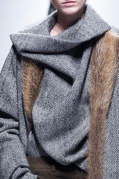 Haider Ackermann Details A/W '13 herringbone and fur