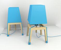 Lampada Blu Squale by Carolina Starke, via Behance