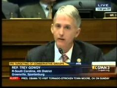 Rep. Trey Gowdy Questions Fmr. IRS Commissioner Shulman  TREY IS ONE OF THE ONLY RESPONSIBLE MEN IN WASHINGTON.   5/22