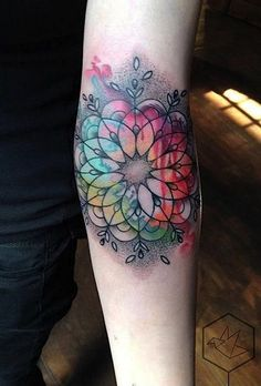 Mandala Watercolor Tattoo - 30+ Intricate Mandala Tattoo Designs