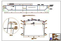 نقشه سوله دهانه ۱۴ متر با جرثقیل ۲۰ تن #سوله #نقشه_سوله #steel_fram #steel_structure #portal_frame #جرثقیل۲۰تن #جرثقیل_سوله #جرثقیل سقفی Autocad, Crane, Line Chart, Floor Plans, Construction, Steel, Landscape, Building, Scenery