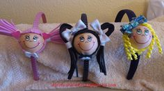 Diademas fofuchas variadas - Fofucha doll hairbands - various