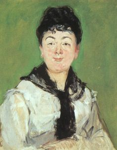 Portrait of a lady with a black fichu, 1878, Edouard Manet