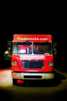 Freddys frozen custard and steakburgers cruising kitchens custom food truck builder mobile kitchen lounge bar retail shipping container corporate marketing vehicle for sale discovery channel blue collar Custom Food Trucks, Best Food Trucks, Freddy's Frozen Custard, Mobile Food Trucks, Concession Trailer, Mobile Business, Discovery Channel, Cars For Sale, A Food