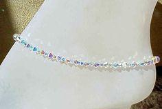 Swaroski crystal anklet
