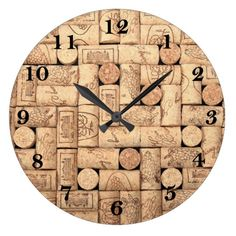 Wine Corks Round Clock