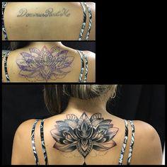 Flor de lotus estilo ornamental #tattoo #tatuagemfeminina #tatuagem #tatuajes #coveruptattoo ...