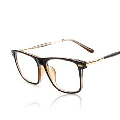 816808e43d 2016 Brand Design vintage Grade Spectacle Frame Eyeglasses Frames Women  Lady metal temples Computer Eye Glasses