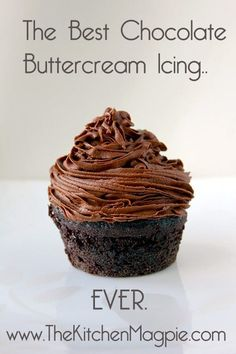 The Best Chocolate Buttercream Icing recipe from @kitchenmagpie