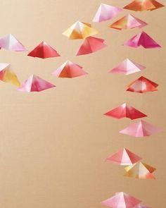 origami garland!