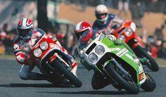 1981 World Endurance Championship LeMans 24H Kawasaki KR-1000 Raymondo Roche Honda RCB1000 Mike Baldwin